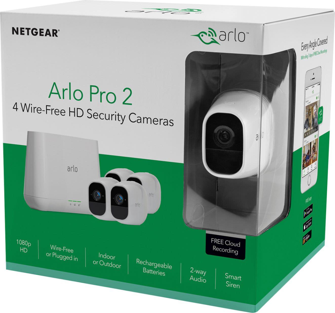 Best Buy Arlo - Pro 2 4-Camera Indoor/Outdoor Wireless