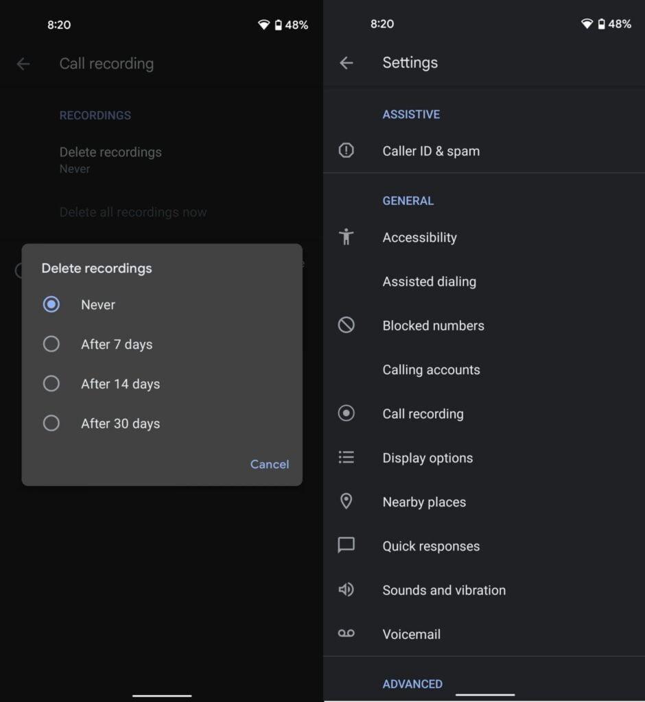 Funcţia de înregistrare a apelurilor este disponibilă oficial în aplicaţia Google Phone